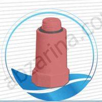درپوش رزوه دار پایه بلند قرمز (۱)۳۲mm آذین