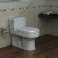 توالت فرنگی گلسار مدل هلیا ۶۰ یک تکه