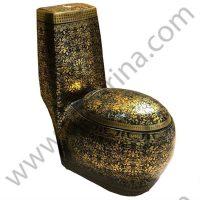 توالت فرنگی مشکی طلایی ۱۰۱۷ pier