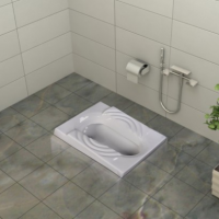 توالت زمینی گلسار مدل سهند آبریز باز