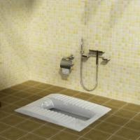 توالت زمینی گلسار مدل لوسیا آبریز بسته