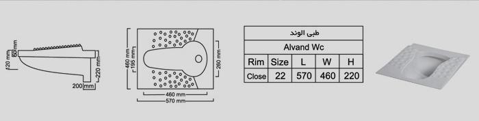 زمینی الوند-مشخصات فنی