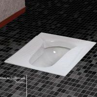 توالت زمینی چینی کسری مدل سبلان